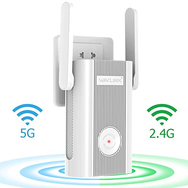 WAVLINK [Newest 2019] WiFi Range Extender/High Speed Signal Booster/WiFi Coverage Up to 1200 Mbps with Dual Band 5Ghz+ 2.4Ghz Works Any Router (WF-575A4)