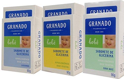 Linha Bebe Granado - Sabonete em Barra de Glicerina Sortidos (6 x 90 Gr) - (Granado Baby Collection - Fennel Glycerin Bar Soap Net (6 x 3.2 Oz)) - 1