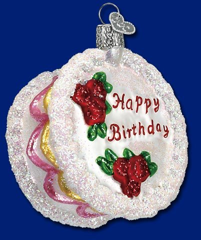 Old World Christmas Birthday Cake Ornament