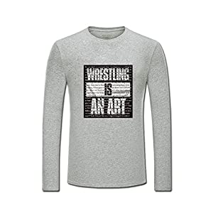 Wrestling Is An Art for boys/girls Printed Long Sleeve Cotton T-shirt