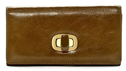 Hobo International Doria Credit Card Clutch Wallet with Turn Clasp Closure Kiwi
