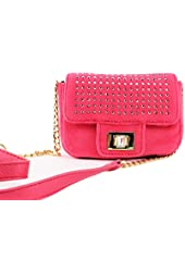 Juicy Couture La Glamour Velolur Mini G Crossbody Bag, Pink