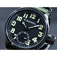 ビーバレル B-BARREL 手巻き式 腕時計 BB0046IPBK-1