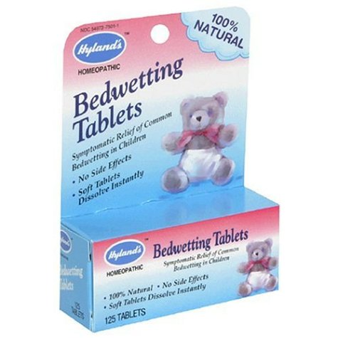 Hyland's Bedwetting Tablets, 125 tablets (Pack of 4)