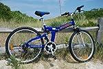 """Columba 26"""" Alloy Folding Bike w. Shimano Blue (RJ26A_BLU) by 2ksilver"""