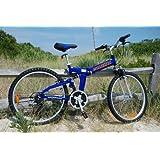 "Columba 26"" Alloy Folding Bike w. Shimano Blue (RJ26A_BLU)"