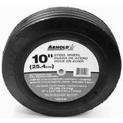 Arnold 10275-B 10-Inch Steel Universal Symmetrical Replacement Lawn Mower Wheel - Quantity 6 picture