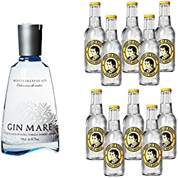 Gin Mare Tonic Water Set - Gin Mare (1 x 0,7 l) mit 10 x Tonic Water Ihrer Wahl! (Thomas Henry, 0.2)