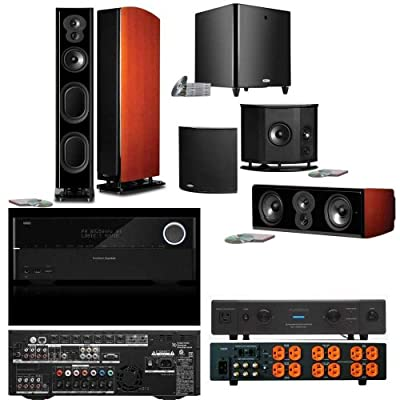 Polk Audio LSiM705 5.1 MAHOGONY Bundle-Harman AVR 3700 7.2AV-Furman Elite 20 by Polk Audio