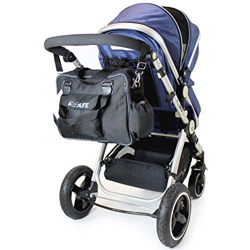 iSafe Sac de change pour bébé Noir/gris