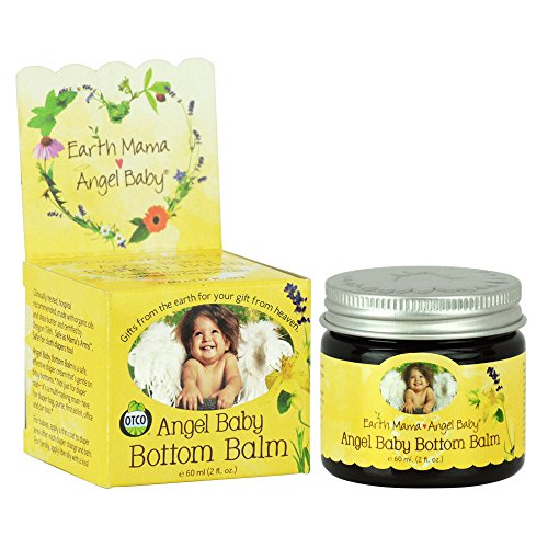 Earth Mama Angel Baby Angel Baby Bottom Balm Diaper Cream, 2-Ounce Jar