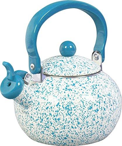 Calypso Basics 36972 Whistling Teakettle, Turquoise (Whistling Tea Kettle Turquoise compare prices)