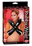 Rubba Wear Latex Gauntlet Gloves, Black, One Size