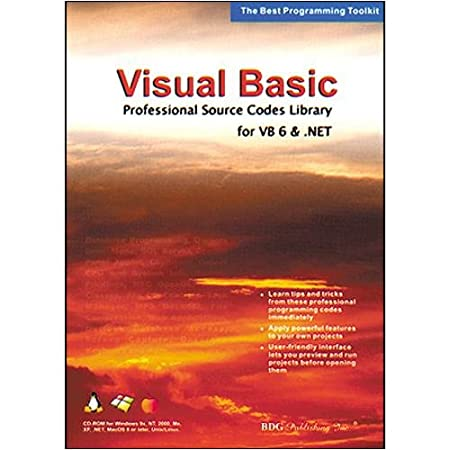 Bdg Publishing Visual Basic Source Code For VB 6 and .NET (Windows/Macintosh)