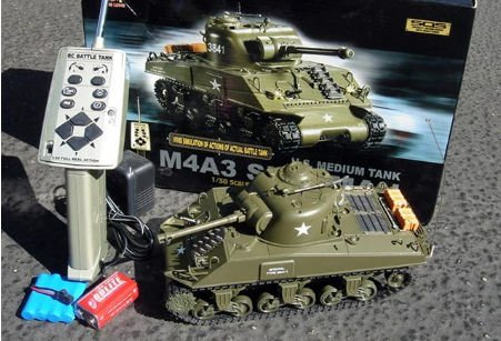 M4A3 Sherman 1-30 Scale Radio Remote Controlled RC Battle Tank RTR TASM
