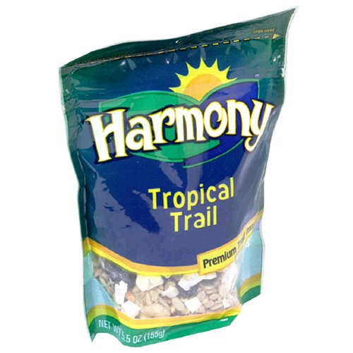Buy Harmony Foods Tropical Trail Mix, 5.5-Ounce Bags (Pack of 12) (Harmony Foods, Health & Personal Care, Products, Food & Snacks, Snacks Cookies & Candy, Snack Food, Trail Mix)