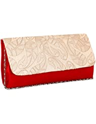 Sukkhi Designer Red And White Clutch Handbag BW1031CD1750