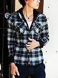 4カラー 長袖 チェックシャツ メンズ チェック シャツ S M L XL グリーン L