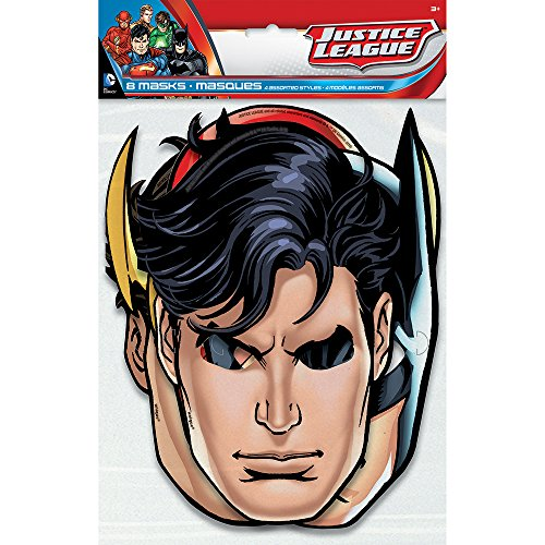 Justice League Party Masks, 8ct (Paper Mask Party compare prices)