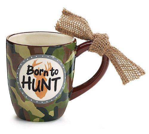 Born To Hunt Camo Ceramic Coffee Mug Cup Tea 14Oz Camouflage Hunter Gift