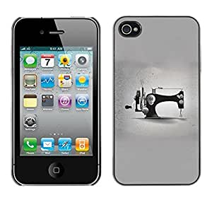 Omega Covers - Snap on Hard Back Case Cover Shell FOR Apple iPhone 4 / 4S - Grey Designer Fashion Minimalist