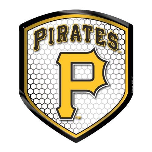 Pittsburgh Pirates MLB Reflector Decal Auto Shield for Car Truck Mailbox Locker Sticker Baseball Licensed Team Logo