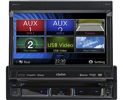 Auto-Navigation-Radio-1-DIN-ausfahrbar-Bluetooth-DVD-passend-fr-VW-Golf-5-V-6-VI-03-13-piano-black-incl-Canbus