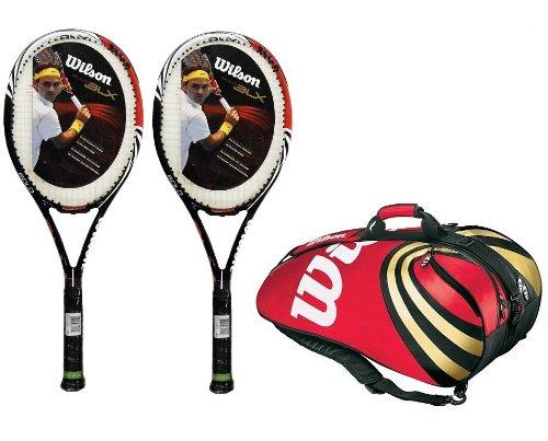 2 x Wilson Bold BLX Tennis Rackets + Wilson BLX Racket Bag RRP £480