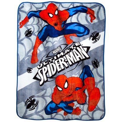"Marvel Ultimate Spiderman ""Go Spidey"" Fleece Throw"