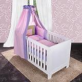 7-tlg. Babybettset von Spring in rosa inkl. Lätzchen und Himmelstange