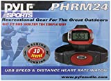 Pyle Sports PHRM24 Speed and Distance Heart Rate Watch with USB and 3D Walking/Running Sensor