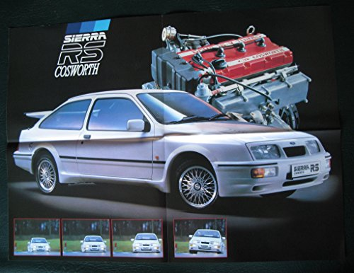Ford Sierra RS Cosworth 1986 UK Market Launch Foldout Brochure original 3 dr
