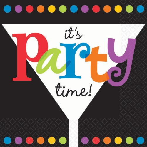 Its Party Time Beverage Napkin