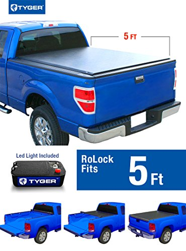 Tyger Auto TG-BC2T2086 RoLock Low Profile Roll-Up Truck Bed Tonneau Cover (For 2005-2015 Toyota Tacoma 5' Bed Only) (2010 Tacoma Tonneau Cover compare prices)