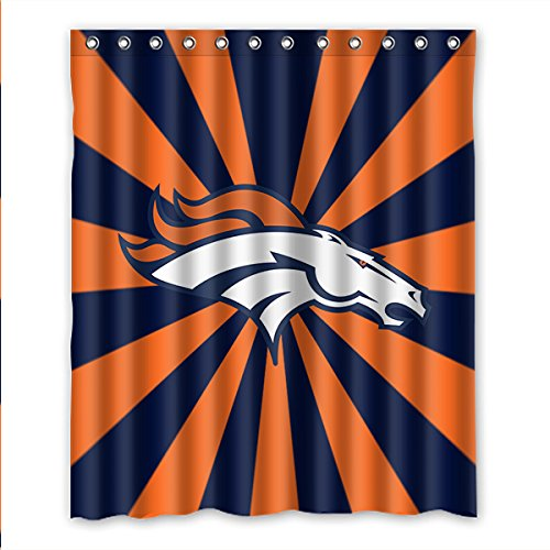 DONGMEN Generic Denver Broncos Polyester Fabric Shower Curtain 60