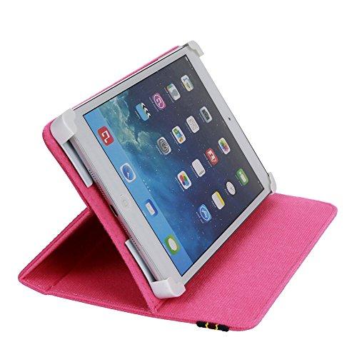 """Danystar® Custodia Cover Universale 7"""" per Tablets (Fucsia)"""