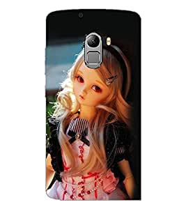 PrintDhaba Cute Doll D-1111 Back Case Cover for LENOVO VIBE X3 c78 (Multi-Coloured)