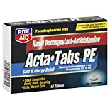 Rite Aid Acta Tabs PE, Tablets, 48 tablets