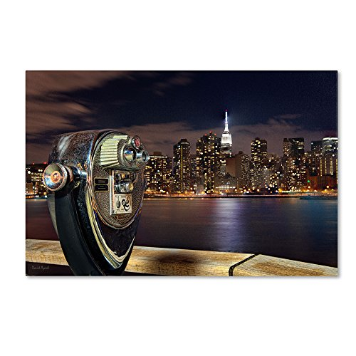 Trademark Fine Art Midtown Over The East River-Iii By David Ayash Wall Decor, 30 By 47-Inch