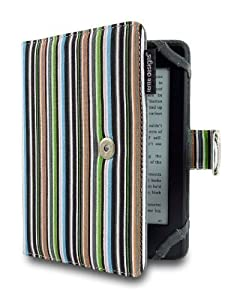 Lente Designs® Amazon Kindle 4, Touch and Paperwhite cover / case in 'Midnight Stripes' design