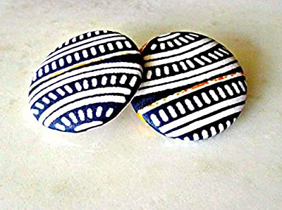 Tribal Fabric Button Earrings, African Fabric Stud Earrings, Ethnic Jewelry