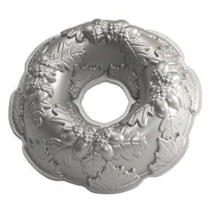 Nordic Ware Platinum Autumn Wreath Bundt Pan by Nordic Ware