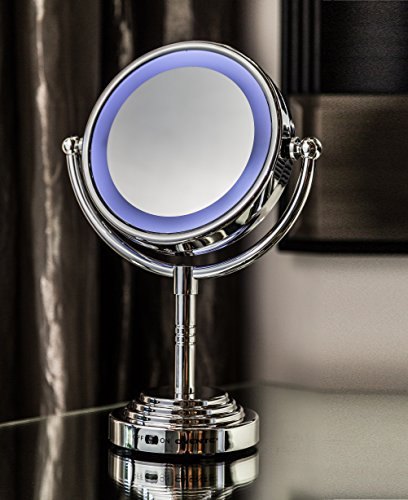 Ovente Mlt28C Battery-Operated Lighted Makeup Mirror, 1X/3X Magnification