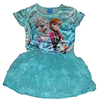 Disney Youth Girls Frozen in Action Anna Elsa Olaf Tulle Dress
