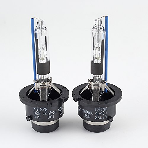 HYB 8000K 35W D2R Auto Xenon HID Headlight Replacement Bulb (Pack of 2) (Hid Headlight 8000k compare prices)