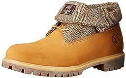 Timberland Men\'s Roll Top Fabric Winter Boot, Wheat Nubuck Harris Tweed, 9.5 M US