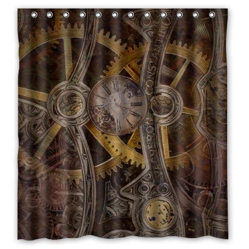 Stylish Living Elegant Gear Steampunk Bathroom Shower Curtain (66