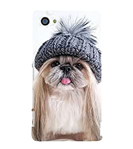 Cute Puppy 3D Hard Polycarbonate Designer Back Case Cover for Sony Xperia Z5 Compact :: Sony Xperia Z5 Mini