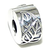 Pro Jewelry Solid Sterling Silver .925 Safety Leaves Clip Lock Stopper Beads Charms for Snake Chain Bracelet 040