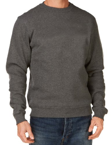 Mens Plain Classic Sweatshirts Sizes XS to 4XL - WORK CASUAL SPORTS LEISURE (M - MEDIUM, NAVY BLUE)